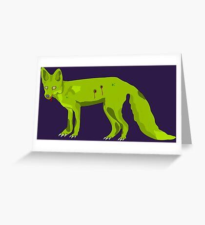 Frederick - The Zomfox (Zombie Fox) Greeting Card