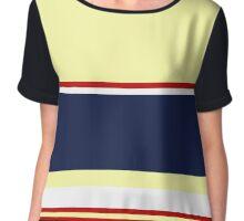 striped pattern Chiffon Top