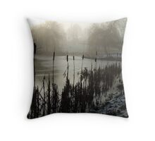 Morning on the Golf Course Throw Pillow