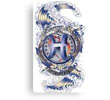 PISCES Aquatic Zodiac sign Canvas Print
