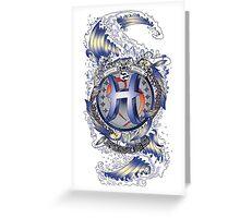 PISCES Aquatic Zodiac sign Greeting Card