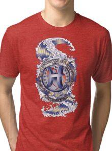 PISCES Aquatic Zodiac sign Tri-blend T-Shirt
