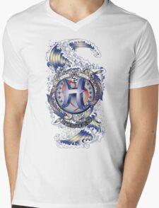 PISCES Aquatic Zodiac sign Mens V-Neck T-Shirt