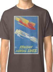 Vintage Travel Poster - Italian Aerial Lines Classic T-Shirt