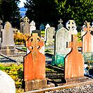 Glendalough Graveyard by Chris L Smith