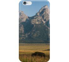 Buffalo in the Grand Teton Mountains iPhone Case/Skin
