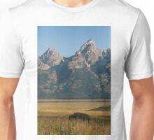 Buffalo in the Grand Teton Mountains Unisex T-Shirt