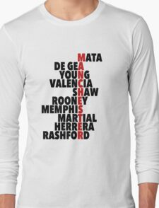 Manchester United spelt using player names Long Sleeve T-Shirt