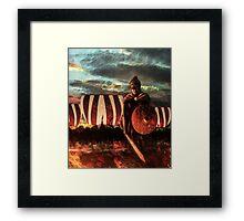Wrath of a Shield Maiden Framed Print