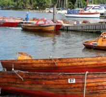 Boats at Keswick Sticker