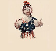 Zombie Lady Liberty by Boogiemonst