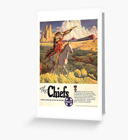 Vintage poster - The Chiefs Greeting Card