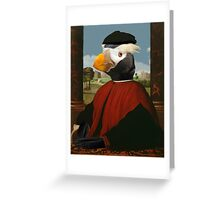 Birders Rule - Tufted Puffin in Red Greeting Card