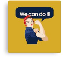 We can do it Canvas Print