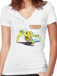 Strider Women's Fitted V-Neck T-Shirt