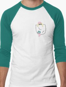 Pocket Sized Fluttershy Men's Baseball ¾ T-Shirt
