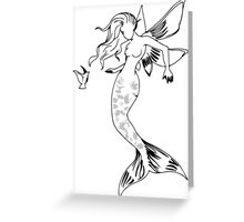 Mythical Winged Mermaid Greeting Card