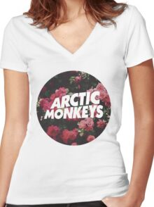Artic Monkeys Women's Fitted V-Neck T-Shirt