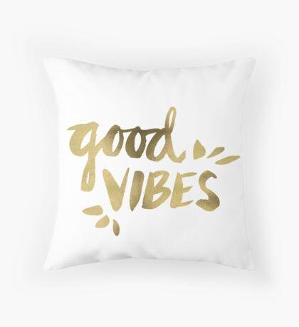 Good Vibes - Gold Ink Throw Pillow