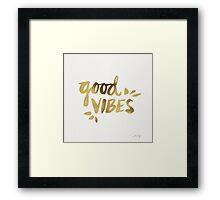 Good Vibes - Gold Ink Framed Print