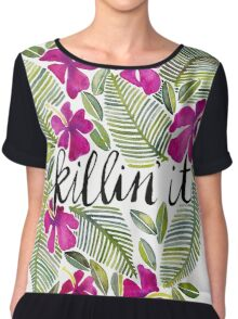 Killin' It – Tropical Pink Chiffon Top
