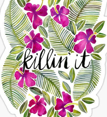 Killin' It – Tropical Pink Sticker