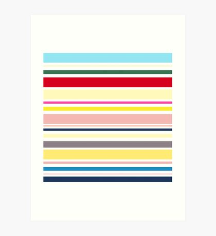 Elegant Fashion Stripes. Just Perfect colorful Fashion. Art Print