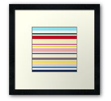 Elegant Fashion Stripes. Just Perfect colorful Fashion. Framed Print