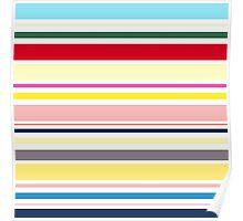 Elegant Fashion Stripes. Just Perfect colorful Fashion. Poster