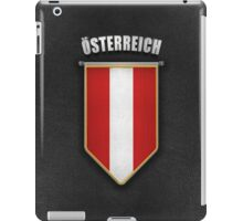 Austria Pennant with high quality leather look iPad Case/Skin