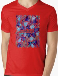 Tropical Wanderlust – Blue Mens V-Neck T-Shirt