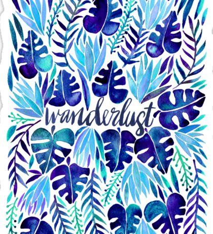 Tropical Wanderlust – Blue Sticker