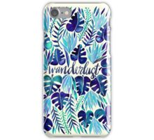 Tropical Wanderlust – Blue iPhone Case/Skin