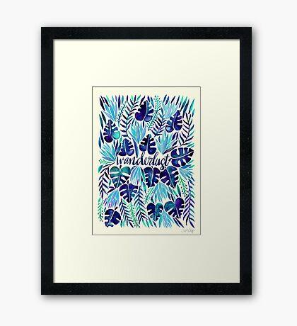 Tropical Wanderlust – Blue Framed Print