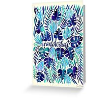 Tropical Wanderlust – Blue Greeting Card