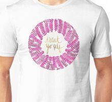 Treat Yo Self – Gold & Pink Unisex T-Shirt