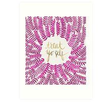 Treat Yo Self – Gold & Pink Art Print