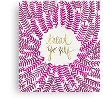 Treat Yo Self – Gold & Pink Canvas Print