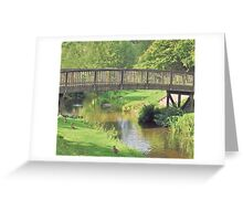 Footbridge over the river Wey Greeting Card