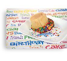 Birthday Cupcake Humor Canvas Print