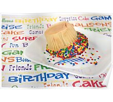 Birthday Cupcake Humor Poster