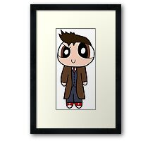 10th Doctor Powerpuff Style! Framed Print