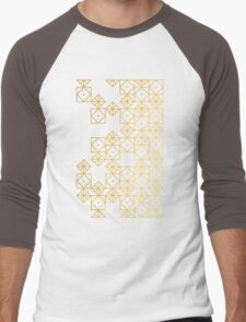 Geometric Gold Men's Baseball ¾ T-Shirt