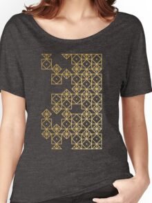 Geometric Gold Women's Relaxed Fit T-Shirt