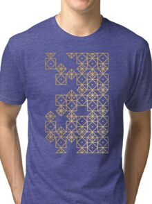 Geometric Gold Tri-blend T-Shirt