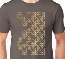 Geometric Gold Unisex T-Shirt