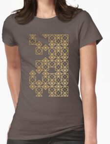 Geometric Gold Womens Fitted T-Shirt