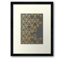 Geometric Gold Framed Print
