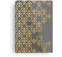 Geometric Gold Metal Print