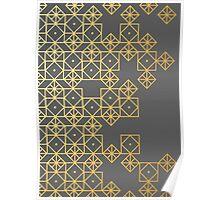 Geometric Gold Poster